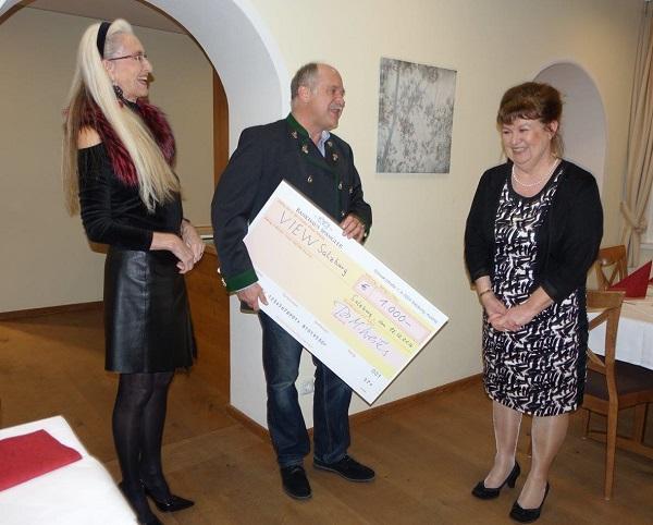 VIEW dankt  Rotary Club St. Rupert für Unterstützung